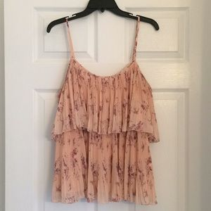 LC Large Flouncy Blouse - Floral Sparrow Blush